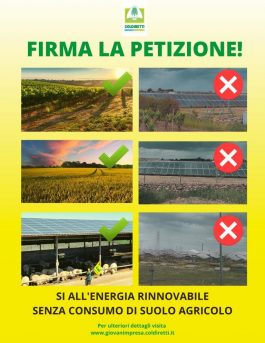 Clima: al via petizione contro pannelli mangia suolo